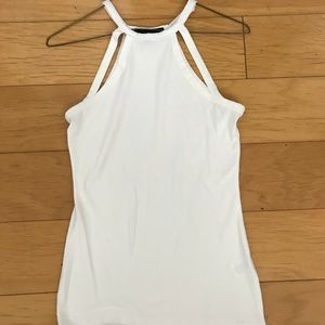 Derek Heart white high neck tank size M